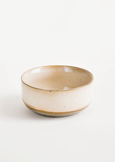 Round ceramic bowl in beige glaze pictured alone for use separate of tray- LEIF