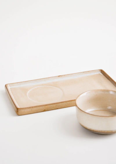 Sandshore Ceramic Serving Duo