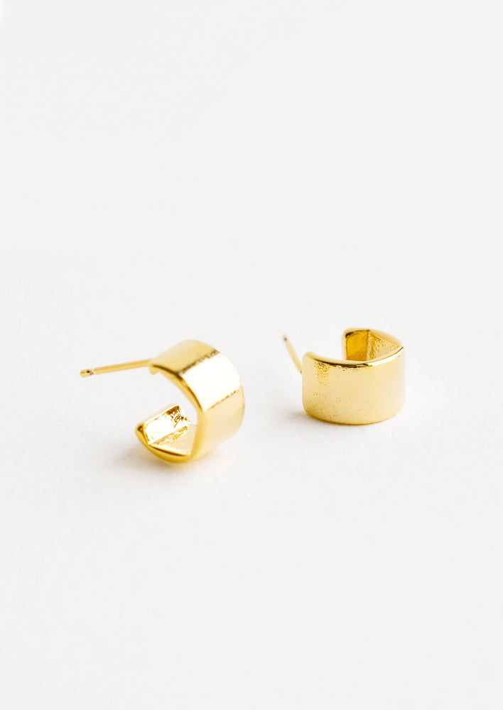 1: Mini Huggie Hoop Stud Earrings in  - LEIF