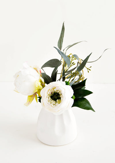 Scalloped Flute Mini Vase