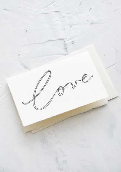 Cursive Love Card