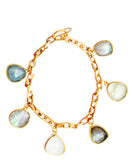 Pebble Gem Charm Bracelet - LEIF