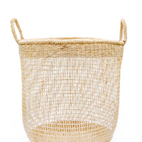 Large: Nesting Seagrass Storage Basket in Large - LEIF