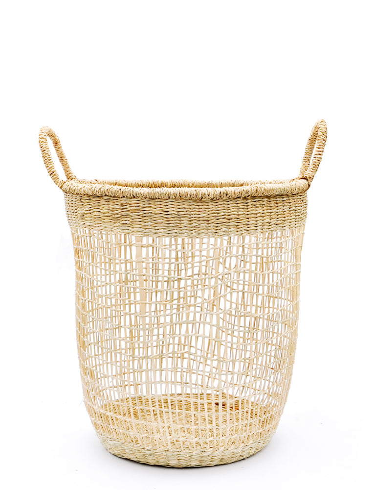 Medium: Nesting Seagrass Storage Basket in Medium - LEIF