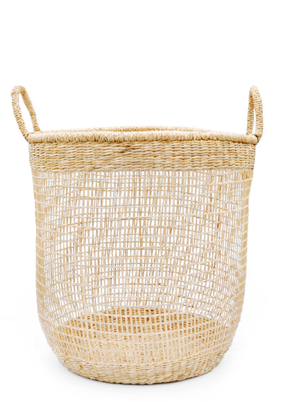 Nesting Seagrass Storage Basket in Large - LEIF