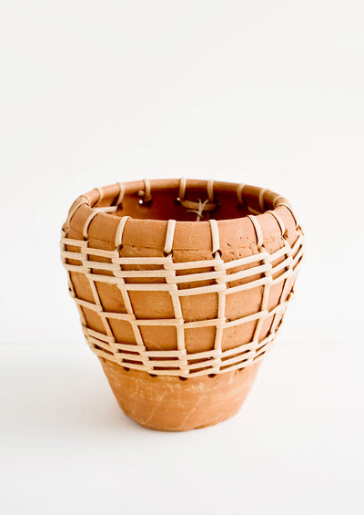 Seagrass Woven Terracotta Planter