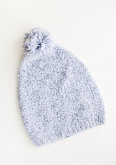 Seed Knit Alpaca Beanie in Cloud - LEIF