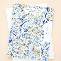 "1: Greeting card with text reading ""Yours is a birthday I'll never forget"", with seed paper envelope"