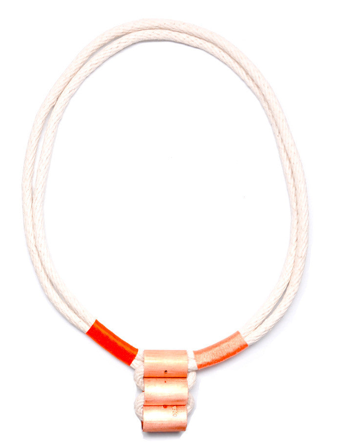 Wrapped Rope Necklace in Citrus - LEIF
