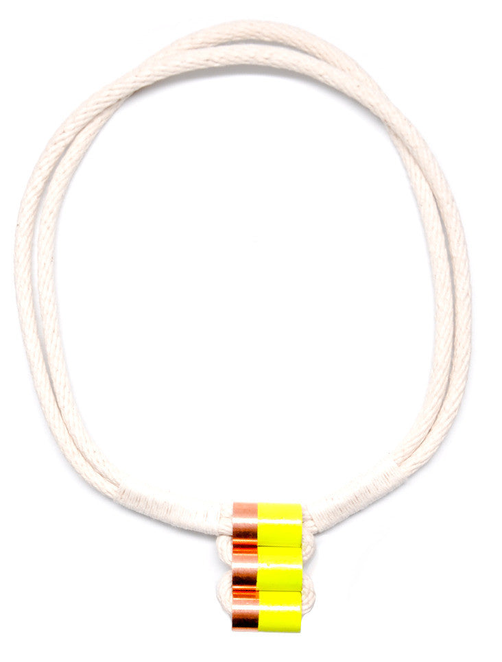 Neon Dip Rope Necklace - LEIF