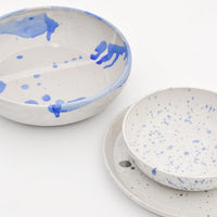 Blue Splatter Ceramic Bowl - LEIF