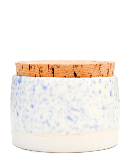 Blue Splatter: Splattered Salt Cellar in Blue Splatter - LEIF
