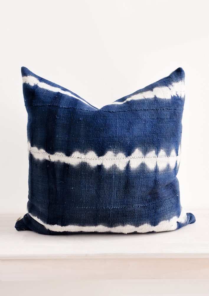 1: Shibori Mudcloth Pillow in  - LEIF
