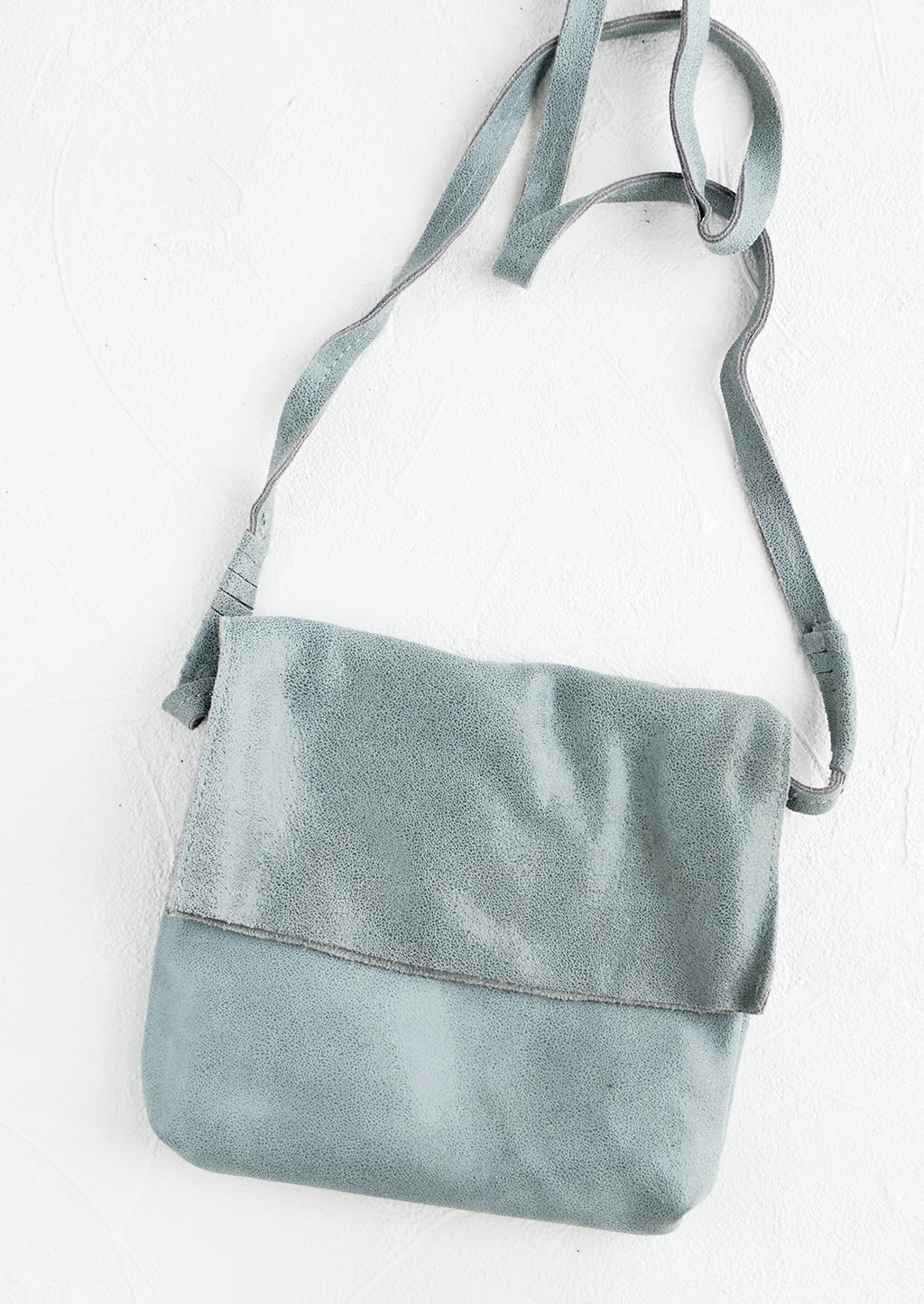 Storm Cloud: Shimmer Leather Crossbody Bag