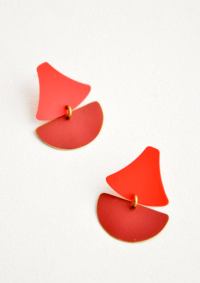 Sailboat Earrings in Coral / Sienna - LEIF