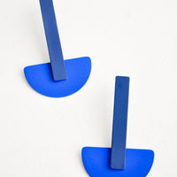 Navy / Klein Blue: Schooner Earrings in Navy / Klein Blue - LEIF