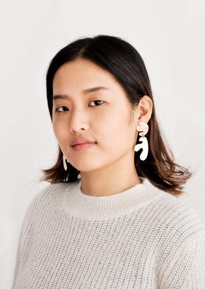 Seaweed Cut Out Earrings hover