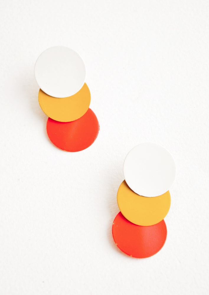 Cream / Mustard / Coral: Twiggy Earrings in Cream / Mustard / Coral - LEIF