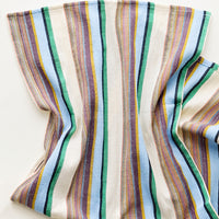 Sky Multi / Hand Towel: Colorful Stripe Patterned Cotton Turkish Hand Towel in Blue Multi