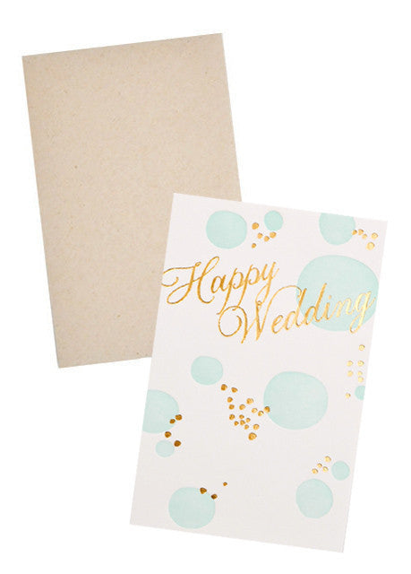 Bubbles Happy Wedding Card - LEIF