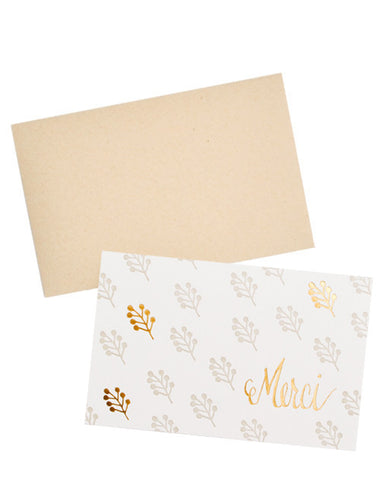 Merci Floral Script Card Set - LEIF
