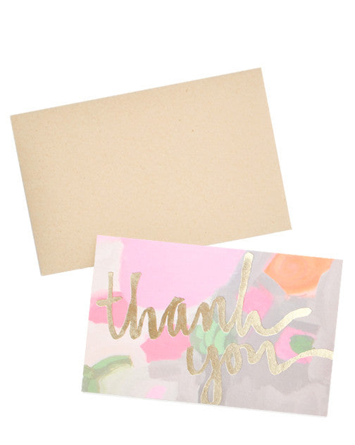 Painted Thank You Card Set - LEIF
