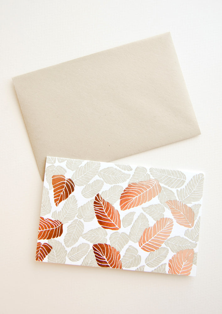 1: Tropical Leaves Blank Card in  - LEIF