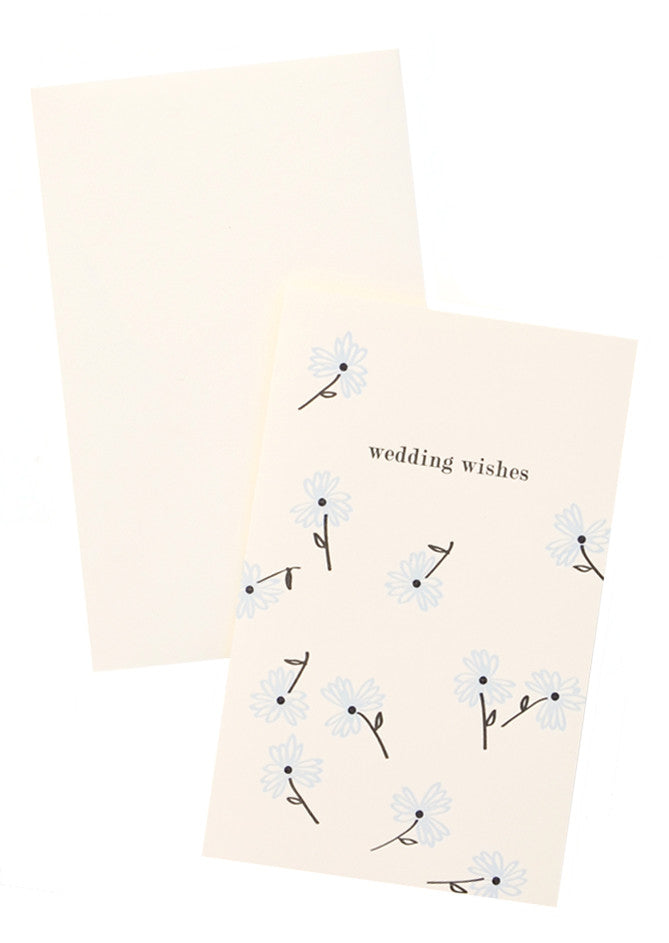 Falling Flora Wedding Card