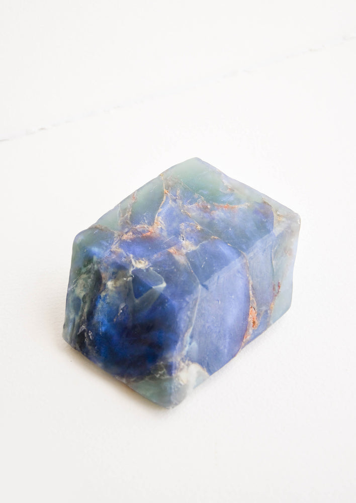 Labradorite: Bar soap in the form of a realistic looking labradorite gemstone