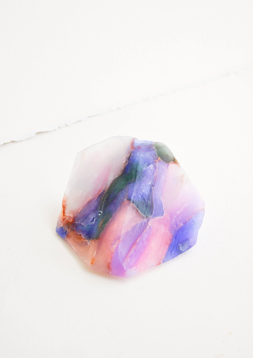 Opal: Bar soap in the form of a realistic looking opal gemstone