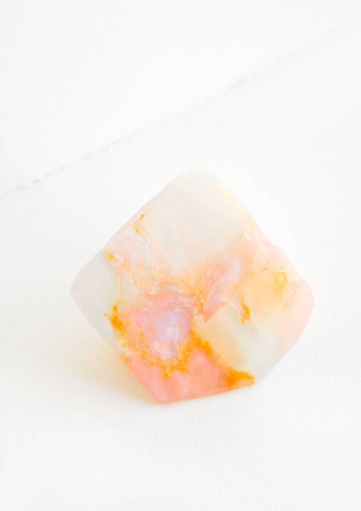White Opal: Bar soap in the form of a realistic looking opal gemstone