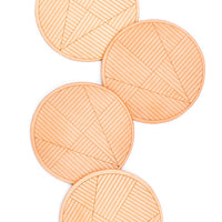 1: Sol Natural Leather Coaster Set in  - LEIF