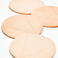 2: Sol Natural Leather Coaster Set in  - LEIF