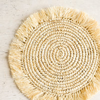 Natural: Solero Raffia Placemat Set