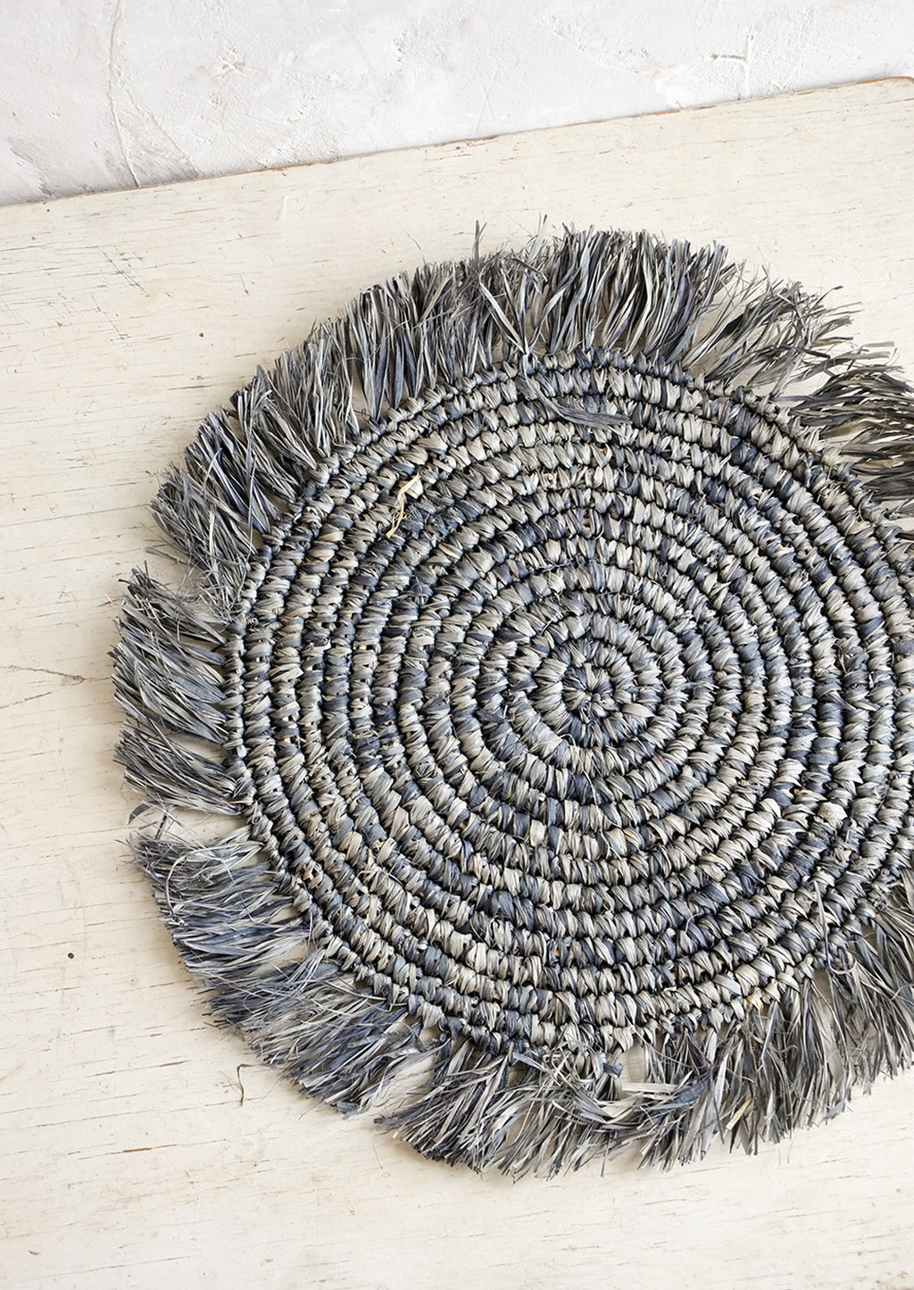 Grey: Solero Raffia Placemat Set