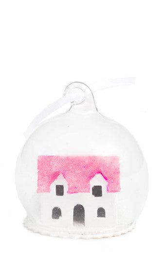 Sparkled Snowhouse Ornament - LEIF