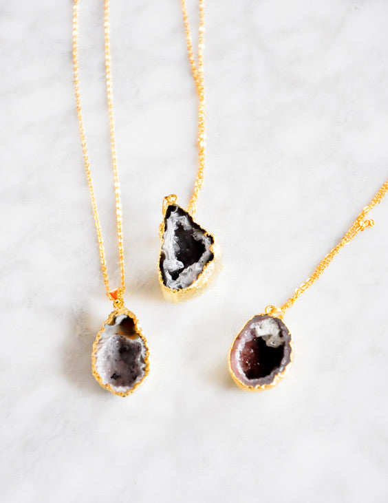 Sparkling Geode Necklace - LEIF