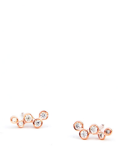 Sparkling Rosé Stud Earrings