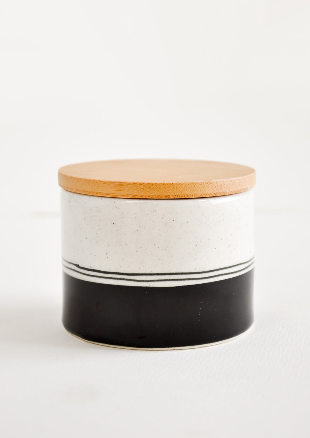 Salt Cellar: Speckle Stripe Storage Jar in Salt Cellar - LEIF