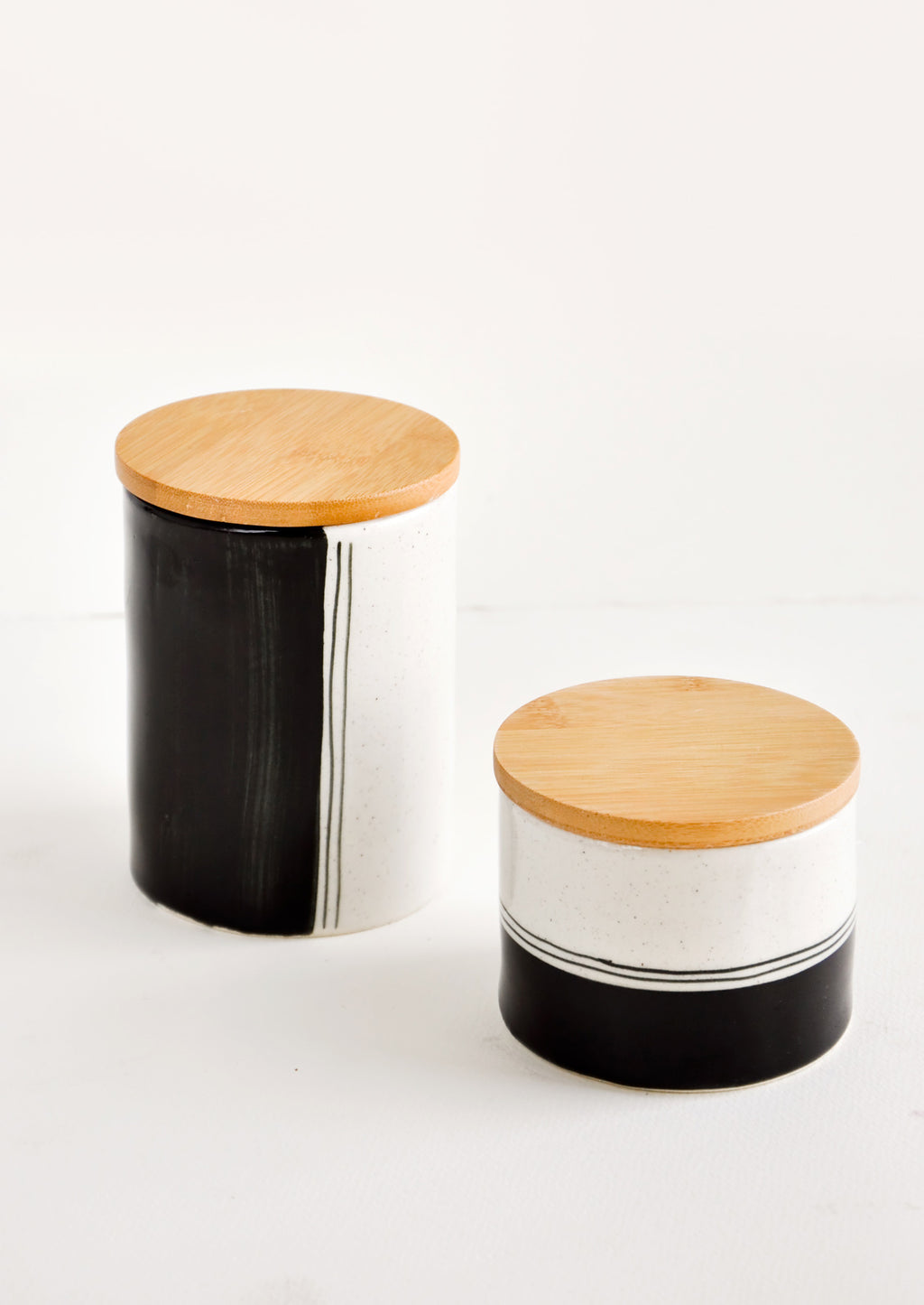 1: Speckle Stripe Storage Jar in  - LEIF