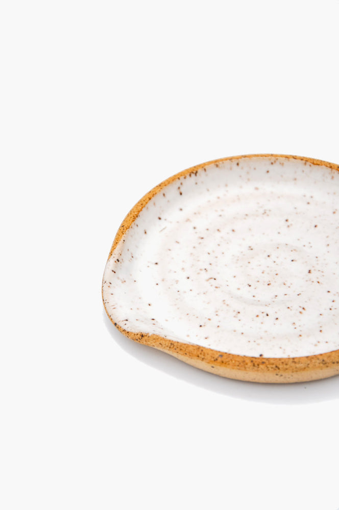 Speckled Ceramic Spoon Rest in  - LEIF