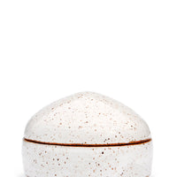 White Speckle: Speckled Ceramic Trinket Box in White Speckle - LEIF