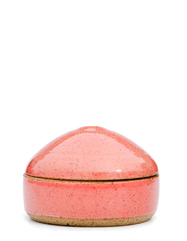 Rose Speckle: Speckled Ceramic Trinket Box in Rose Speckle - LEIF