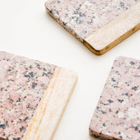 Speckled Granite Coaster Set