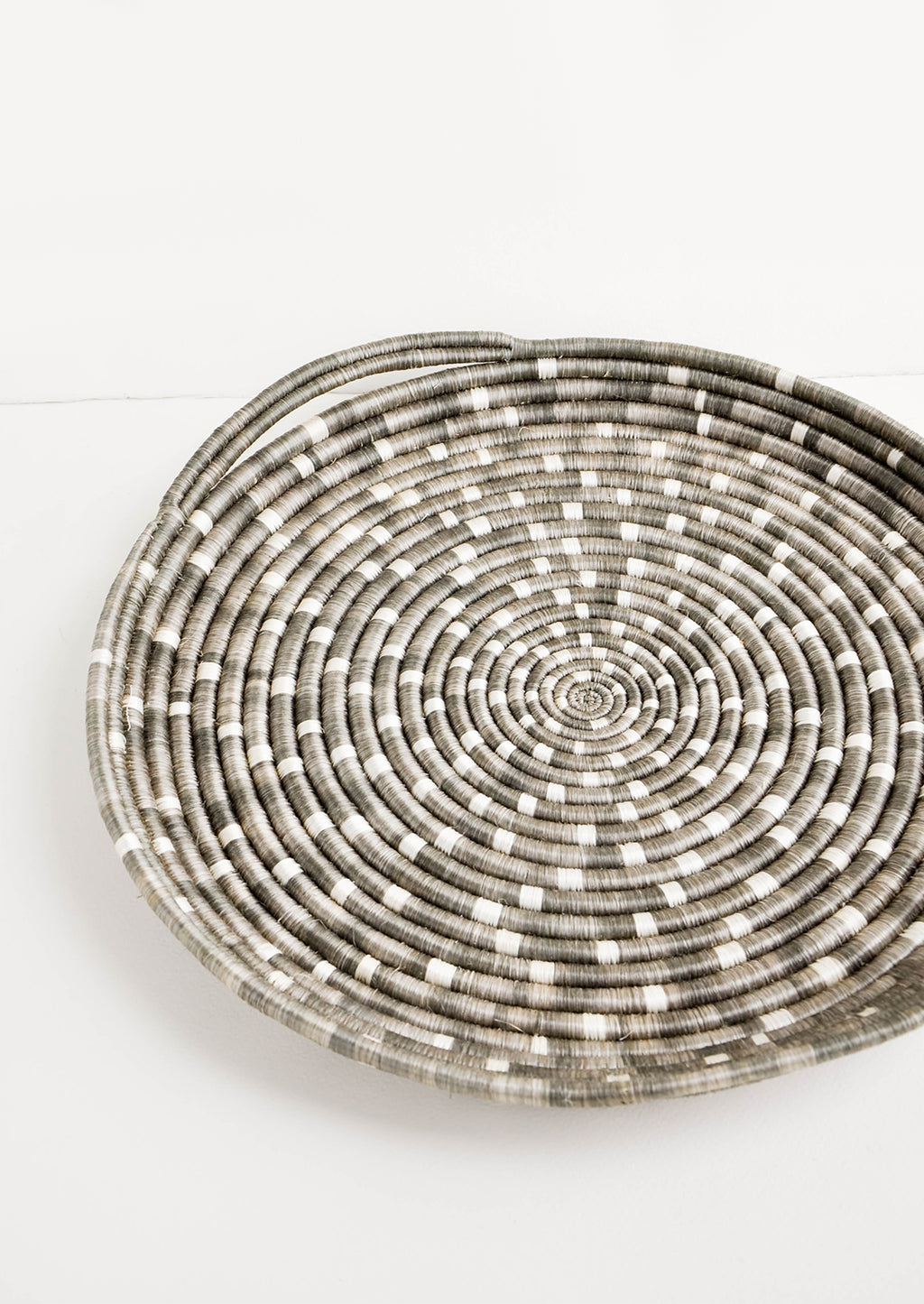 Taupe: Speckled Sweetgrass Serving Tray in Taupe - LEIF
