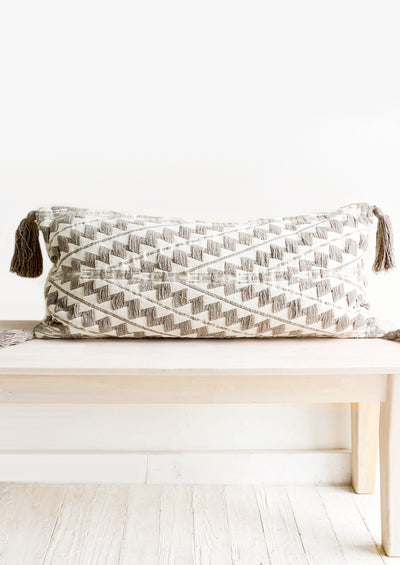 Speckled Yarn Embroidered Bed Pillow