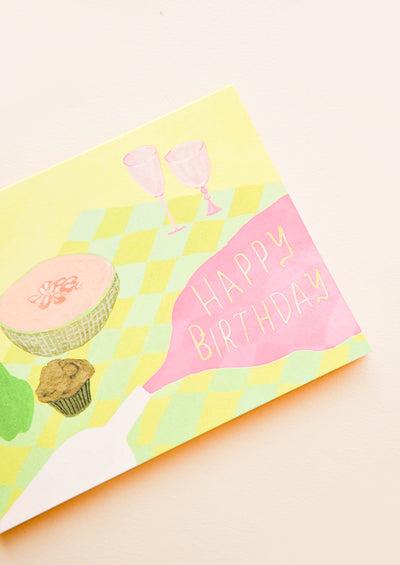 Spilled Wine Birthday Card hover