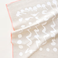 1: Splatter Squiggle Tea Towel in Natural Linen - LEIF