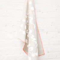 2: Splatter Squiggle Tea Towel Hung On Wall  - LEIF