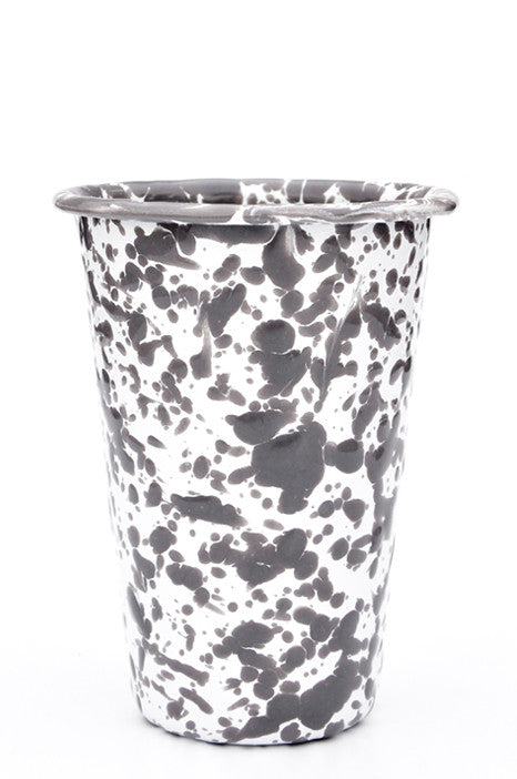 Splatter Enamelware Tumbler in Grey / White - LEIF